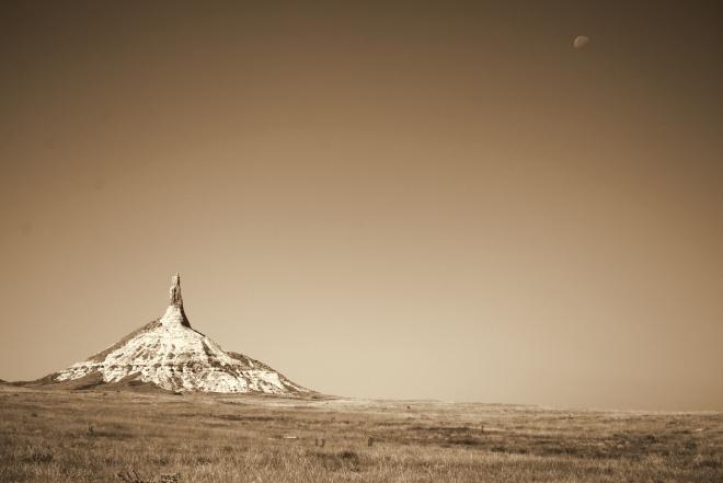 Sepia Chimney Rock