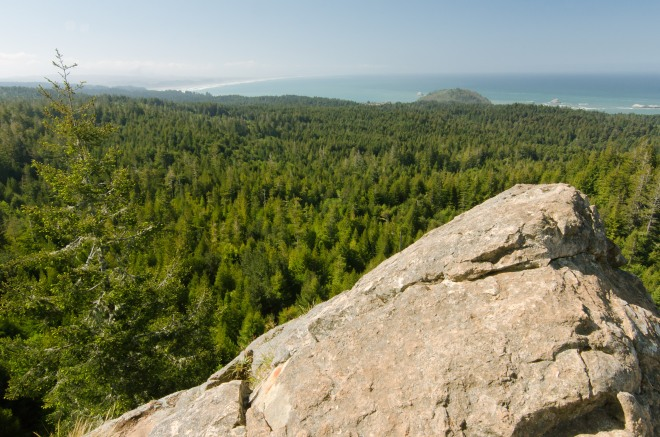 View off Strawberry Rock, looking towards McKinleyville, Arcata, Eureka